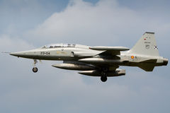 Spanish Air Force F-5 fighter Stock Photography