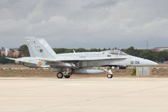 Spanish Air Force F-18 Hornet Royalty Free Stock Photos