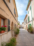 Spanish Alley. Shot from a Spanish alley in Mallorca, Spain Stock Photography