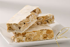 Spanish almond nougat Royalty Free Stock Photo