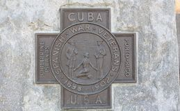 Spanish American War Marker. The Spanish–American War was a conflict fought between Spain and the United States in 1898. Hostilities began in the aftermath of Royalty Free Stock Photos