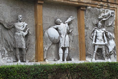 Spanish ancient soldiers relief Royalty Free Stock Images