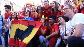 Free Spanish And Italian Football Fans Before Final Match Of EURO 2012 Stock Photo - 36604290