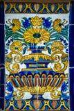Antique ornamental ceramic tiles Stock Images