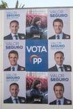 Spanish April 2019 election billboard stock images