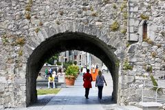 Spanish Arch near River Corrib, Galway City, County Galway. The Spanish Arch Irish: An Póirse and the Caoċ Arch Irish: An Póirse Caoċ in Galway city, Ireland Royalty Free Stock Photos