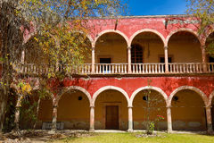 Spanish arches in jaral de berrio hacienda Royalty Free Stock Photos