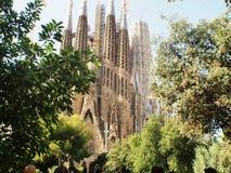 António Gaudi La Sagrada Familia cathedral Barcelona,Catalunya royalty free stock photography
