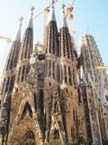 Antonio Gaudi cathedral in Barcelona,Catalunya. Spanish architect Gaudi design the amazing cathedral ibuild in 1882.Still not finish in 2016.Named in spanish La stock photo