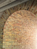 Spanish architecture, arched passageway. Arched passage made with bricks, Spanish architecture Stock Photo