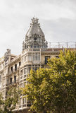 Spanish architecture in Madrid Stock Photo