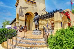 Spanish architecture of Mormons Historic Museum. Stock Images