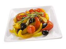 Spanish Baked Peppers and Tomatoes Stock Photography