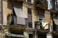 Spanish balconies. A spanish house with balconies in Valencia, Spain stock photo