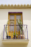 Spanish balcony. Balcony of Spanish house Royalty Free Stock Photo