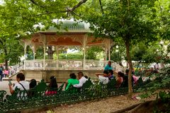 The Spanish bandstand stock photos