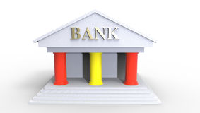 Spanish Bank Illustration made in 3d Royalty Free Stock Images
