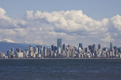Spanish Banks, with Vancouver skyline behind Royalty Free Stock Photography