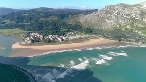 Spanish Bay Basque Beautiful Aerial 4k stock video