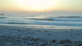 Spanish Bay Beach in Pacific Grove stock video