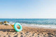 Spanish beach. Landscape empty Spanish Costa Brava Stock Photography