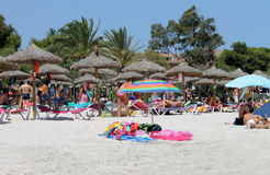 Spanish beach in Majorca Royalty Free Stock Photography