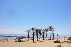 Spanish beach Royalty Free Stock Photos