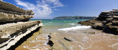 Spanish beach (panorama) Royalty Free Stock Photo