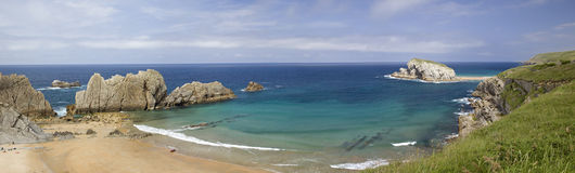 Spanish beach (panorama) Royalty Free Stock Images