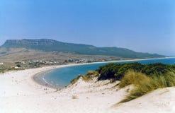 Spanish beach sand dunes andalucia stock image