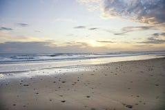 Spanish Beach Sunset View royalty free stock photos