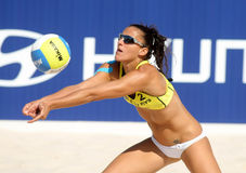 Spanish beach Volley player Alejandra Simon Royalty Free Stock Image