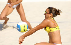 Spanish beach Volley player Cristina Hopf Royalty Free Stock Photography