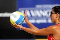 Spanish beach Volley player Ester Ribera Stock Photos