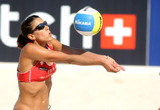 Spanish beach Volley player Ester Ribera Royalty Free Stock Photos