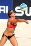 Spanish beach Volley player Nadia Campisi Royalty Free Stock Photo