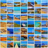 Spanish beaches collage Royalty Free Stock Photography