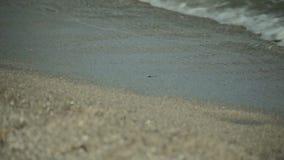 Spanish beaches in Mallorca. Sea surf, waves and sunlight glare.
