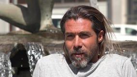 Spanish Bearded Man stock footage