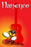 Spanish bee dancing Royalty Free Stock Images