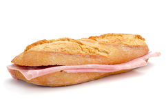 Spanish bocadillo de jamon de york, a ham sandwich Royalty Free Stock Photo