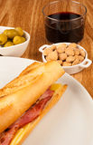 Spanish bocata Royalty Free Stock Photography