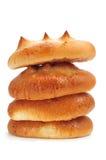 Spanish bollos suizos, brioches with sugar Stock Image