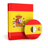 Spanish book  in national flag cover and CD. Stock Images