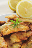 Spanish boquerones fritos, battered and fried anchovies typical Stock Photography