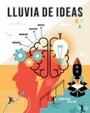 Spanish brainstorm outline business concept Stock Photo
