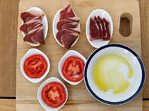 Spanish breakfast common Royalty Free Stock Image
