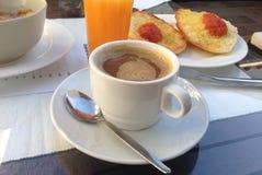 Spanish breakfast with orange juice Stock Images