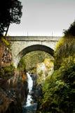 Spanish Bridge in Cauterets Pyrenees Frances. Mountain landscape royalty free stock photo