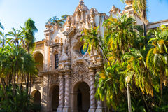 Spanish Building. A Spanish style building in San Diego's Balboa Park Royalty Free Stock Images